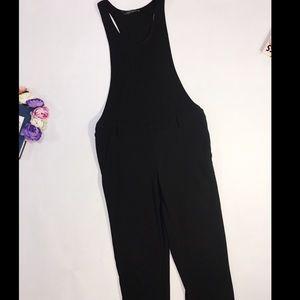 Zara black sleeveless dressy jumpsuit size S